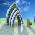 景觀餐廳│主題餐廳│北海岸下午茶‧石門旗艦會館-3D圖