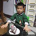 1010305~元寶5歲切蛋糕