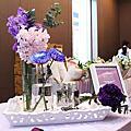 0315 紫色高雅 婚禮佈置