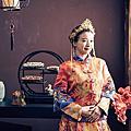 中式棚拍婚紗照