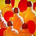 0 沙彌繪畫 緬甸畫家 Min Wae Aung