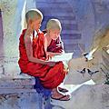 0 沙彌繪畫 緬甸畫家 Myoe Win Aung