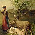 Animal: Charles Emile Jacque (1813-1894) 牧羊
