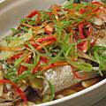 蠔油清蒸鱸魚