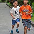 20140827 兄弟倆的慢跑暑假作業