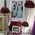 Tina flower婚禮佈置~香江匯時尚美食館婚禮佈置-紅金色系婚禮佈置