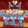 Tina flower婚禮佈置~中壢新陶芳餐廳婚禮佈置-粉藍色系主題佈置