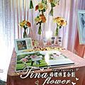 Tina flower婚禮佈置~中壢享宴中餐廳婚禮佈置-粉橘色系主題佈置