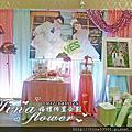 Tina flower婚禮佈置~平鎮茂園和漢美食館婚禮佈置-粉藍色系主題佈置