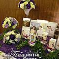Tina flower婚禮佈置~珠江美食宴會館婚禮佈置-迎賓背板婚禮佈置