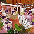 Tina flower婚禮佈置~中壢南方莊園婚禮佈置-鄉村風格背板婚禮佈置