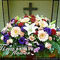 Tina flower婚禮佈置~龍潭浸信會信望愛堂教堂佈置