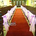 Tina flower婚禮佈置~大溪基督教長老教會僑愛教會婚禮佈置