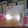 Tina flower婚禮佈置~中壢新陶芳餐廳婚禮佈置-迎賓背板婚禮佈置