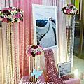 Tina flower婚禮佈置~敏香園(紅瓦屋)餐廳婚禮佈置-粉紅色系佈置