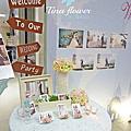 Tina flower婚禮佈置~香江喜宴會場佈置-旅行風背板佈置