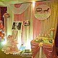 Tina flower婚禮佈置~大園城市商旅婚禮喜宴佈置-粉紅色系