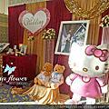 Tina flower婚禮佈置~中壢綠光花園幸福莊園婚禮佈置-紅金色系