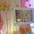 Tina flower婚禮佈置~新陶芳庭園餐廳婚禮佈置-粉白色系佈置