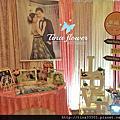 Tina flower婚禮佈置~古華大飯店婚禮佈置-布幔鄉村風佈置