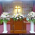 Tina flower婚禮佈置~中原大學恩惠堂結婚感恩禮拜佈置-教堂佈置