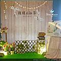 Tina flower婚禮佈置~南方莊園婚禮佈置-鄉村風背板佈置