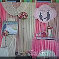 Tina flower 婚禮佈置~八德瑞祥里集會所婚禮佈置-粉白色系主題佈置