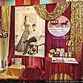 Tina flower婚禮佈置~八德海王城婚禮佈置-紅金色系布幔佈置