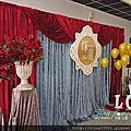 Tina flower婚禮佈置~平鎮山子頂(祥安國小)活動中心婚禮佈置-時尚主題布幔佈置