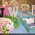 Tina flower婚禮佈置~平鎮茂園和漢美食館婚禮佈置-經典背板佈置(石英粉VS寧靜藍)