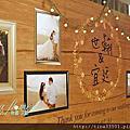 Tina flower婚禮佈置~香江匯婚禮佈置-鄉村風木紋背板佈置