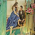 Tina flower婚禮佈置~龜山大崗活動中心婚禮佈置-Tiffany色系布幔佈置