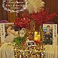Tina flower蒂娜花藝場地佈置~桃園住都大飯店婚禮佈置-金白色典雅背板設計