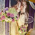 Tina flower蒂娜花藝會場佈置~古華花園大飯店婚禮佈置-紫銀色布幔主題佈置