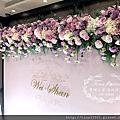 Tina flower蒂娜花藝場地佈置~桃園尊爵大飯店婚禮佈置-粉色系浪漫花牆背板佈置