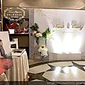 Tina flower蒂娜花藝場地佈置~南崁尊爵天際大飯店婚禮佈置-白金典雅設計+Candy Bar