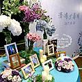 Tina flower蒂娜花藝場地佈置~桃園福容大飯店婚禮佈置-經典背板+豪華Candy Bar