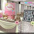 Tina flower蒂娜花藝場地佈置~中壢香江匯婚禮佈置-經典背板+豪華Candy Bar