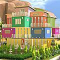 彩色方塊圖書館