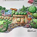 庭園景觀手繪透視圖教學