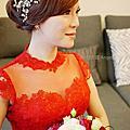 紅色禮服造型