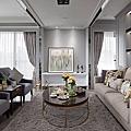 美式風 新古典 室內 33.5坪 毛肧屋