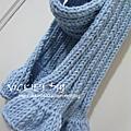 9811藍色長圍巾
