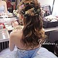 新娘宥均~新娘編髮造型~乾燥花圈~鳳冠掛裙~中國風~新祕珈存