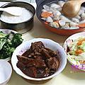 【廚房好物】韓國Wonder Mama 橘鈦原石不沾雙鍋組(28cm炒鍋+湯鍋+玻璃蓋)