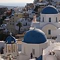 【飛與行的記憶】國外飛的∣希臘:聖托里尼上的籃頂教堂