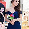 側撥優雅大卷送客造型-新娘秘書台北Wedding女皇 簡珮瀠