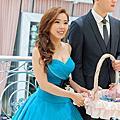 側撥花飾編髮送客造型-新娘秘書台北Wedding女皇 簡珮瀠