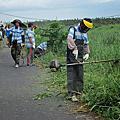 環境清潔整理及自行車步道除草工作