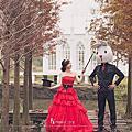兔子玩偶婚紗照姿勢教學